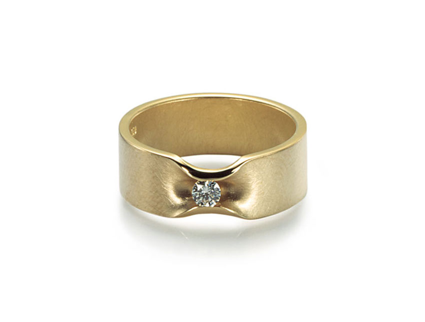 Ring Gold 0,10ct